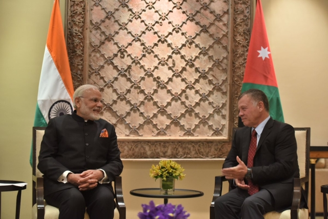 Modi meets King of Jordan.