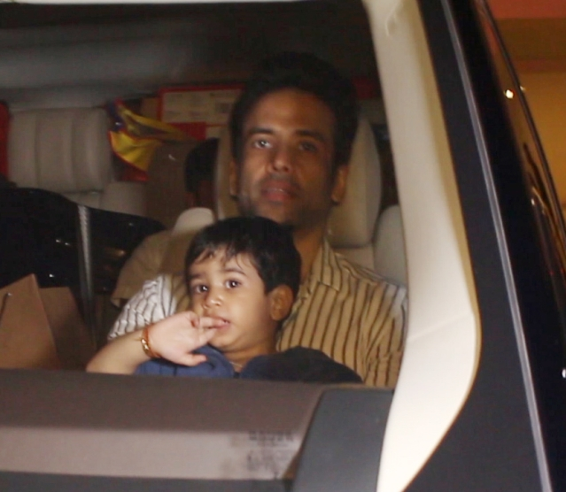 Tushar Kapoor with Lakshya.