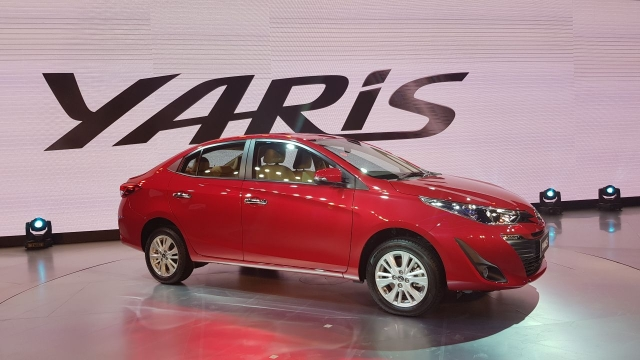 The Toyota Yaris will compete with Honda City, Maruti Ciaz and Hyundai Verna.
