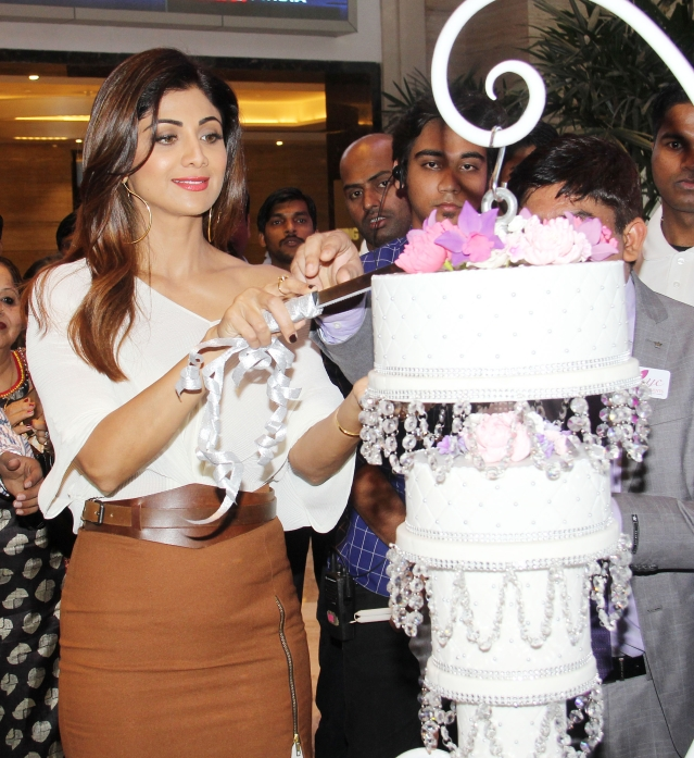 Shilpa Shetty was spotted at an event in the city.