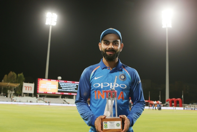 Virat Kohli (captain) of India was man of the match during the 3rd One Day International match between South Africa and India held at the Newlands Cricket Ground in Cape Town