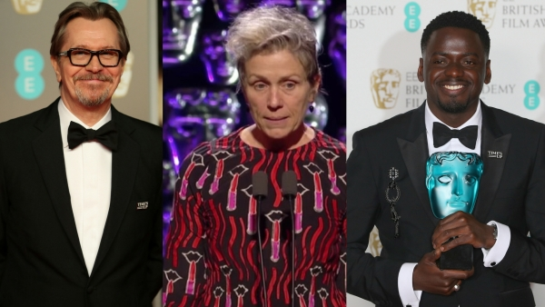 Gary Oldman, Frances McDormand, and Daniel Kaluuya were among the Bafta 2018 winners.