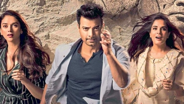 The cast of the film 'Daas Dev' - Aditi Rao Hydari, Rahul Bhat and Richa Chadha.