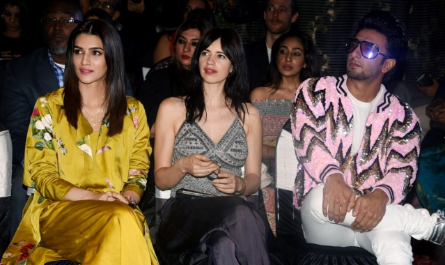Kriti, Kalki and Ranveer at the launch.