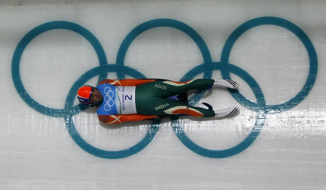 Shiva Keshavan borrowed a sled for his first Winter Olympics.