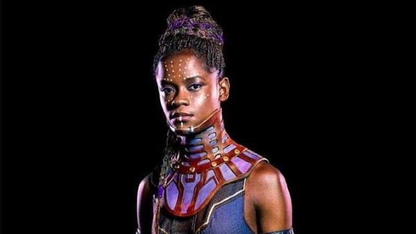 "Letitia Wright still can't believe she made the ""Black Panther"" poster."