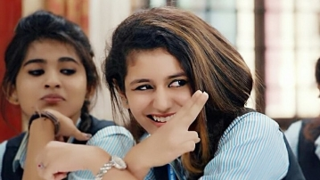 Priya Prakash Varrier in <i>Oru Adaar Love</i>.