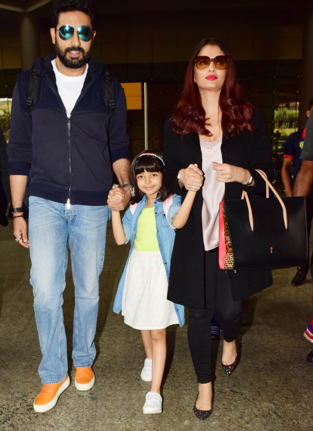 The Bachchan family is fashionably turned out.