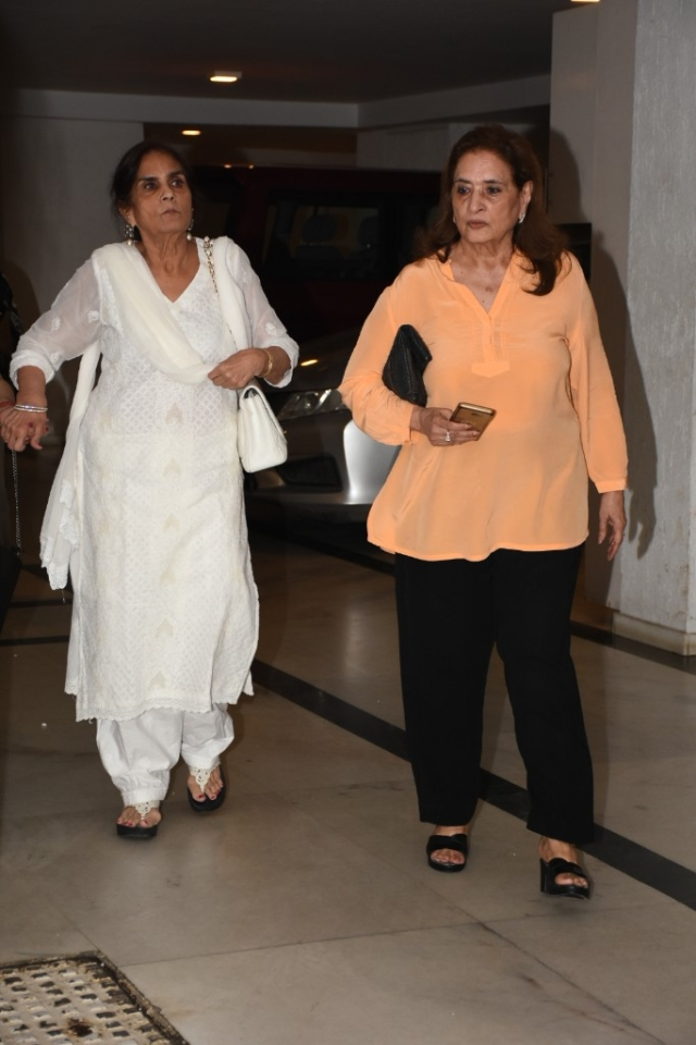 Salman Khan's mother Salma was also spotted at KJo's residence.