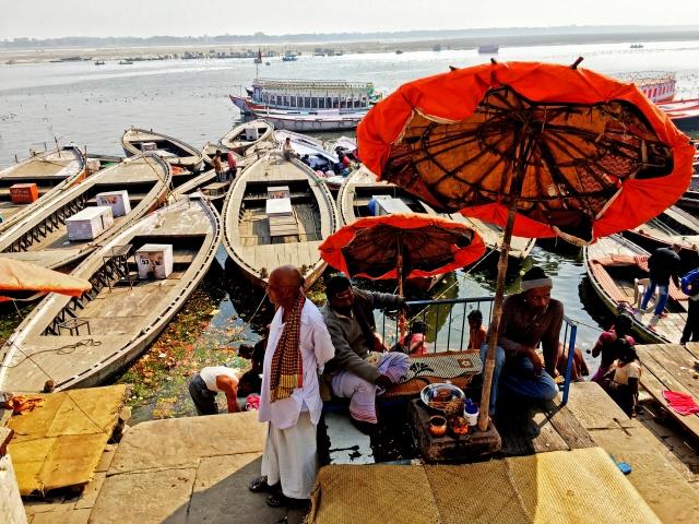 Mornings on the Varanasi ghat,