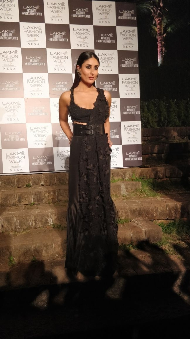 Kareena Kapoor is bring long black dresses back.