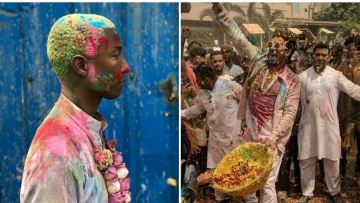 In Pics: Ranveer Singh's 'Happy' Holi With Pharrell Williams