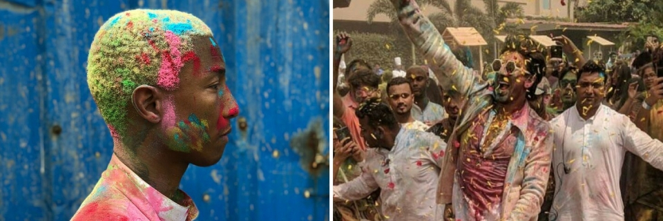 9081ef20761e3 In Pics  Ranveer Singh s  Happy  Holi With Pharrell Williams - The Quint