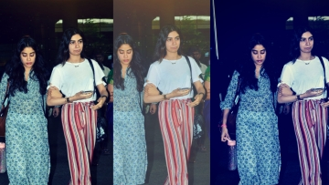 Janhvi and Khushi Kapoor were spotted at the airport.