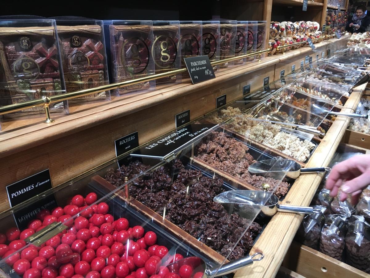 Chocolate tasting on the food tour.