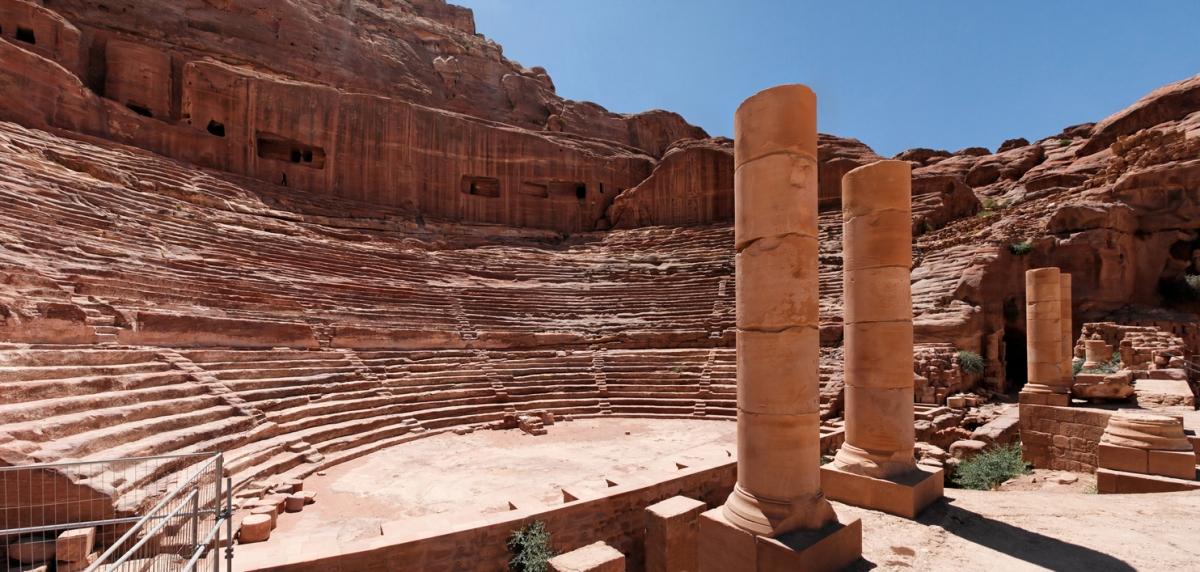 Petra theatre In Jordan.