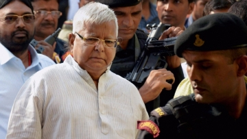 RJD Chief Lalu Prasad Yadav after his conviction in the Dumka treasury case. File photo.