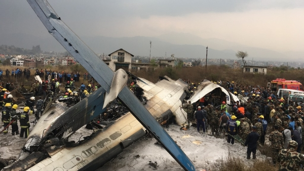 The US-Bangla Airlines plane crashed at the Tribhuvan International Airport in Kathmandu, Nepal, on 12 March.