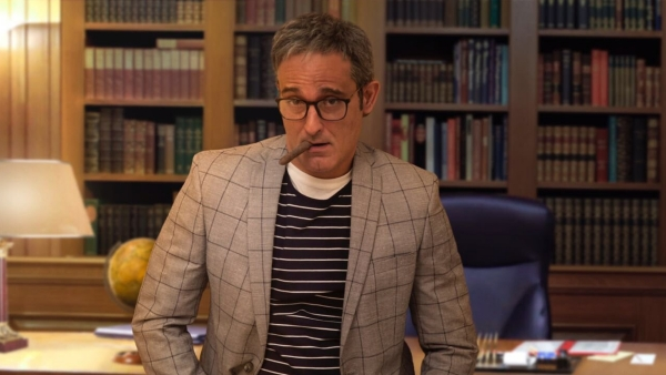 Akshaye Khanna in a still from <i>The Accidental Prime Minister</i>.