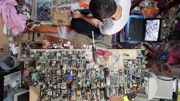 Replica of Midtown Manhattan created in 5 long months using nothing but E-waste products.