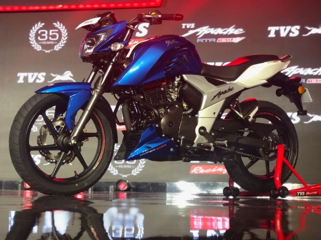 The new Apache borrows a lot of design elements fro the Apache RTR 200