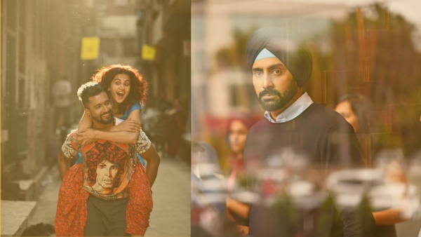 Vicky Kaushal, Taapsee Pannu and Abhishek Bachchan in <i>Manmarziyaan.</i>
