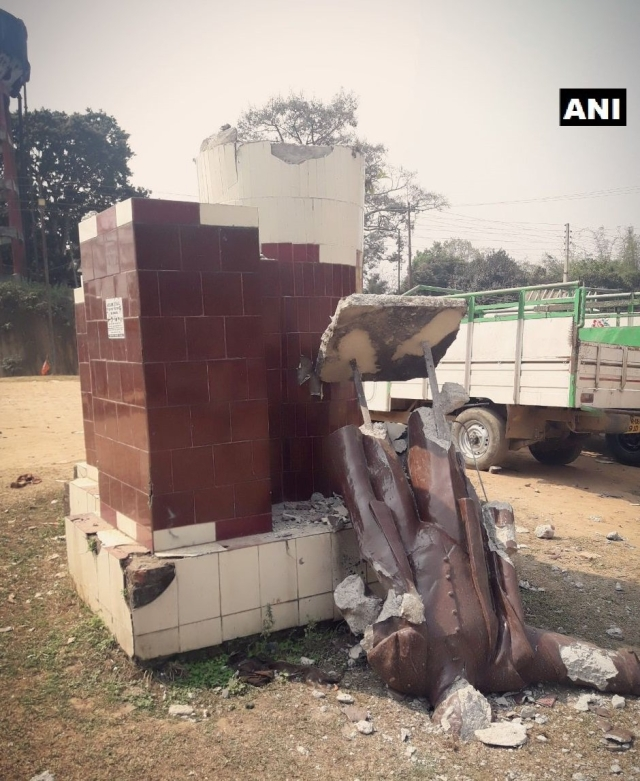 A Lenin statue in Sabroom, Tripura was razed on 4 March.