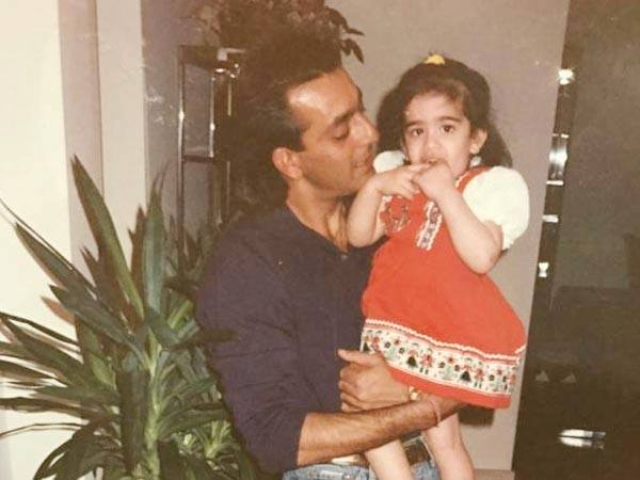 Sanjay Dutt with little Trishala.