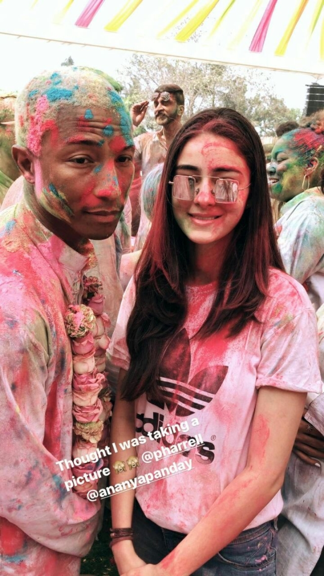 Ananya Pandey with Pharrell Williams. Pic Courtesy: Instagram