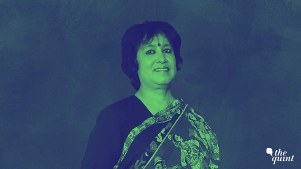 Bangladeshi author Taslima Nasrin, who has been living in exile since 1994.