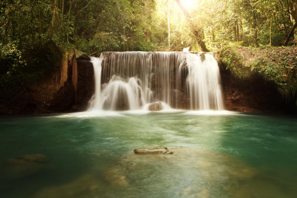 YS Falls in Jamaica.