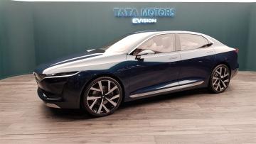 Tata Motors E-Vision Electric Sedan showcases its future design language.