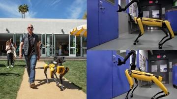 Jeff Bezos Takes His Robot Dog For A Walk Careful This One Bytes