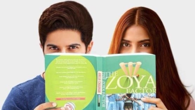 Dulquer Salmaan and Sonam Kapoor in a photo shoot for <i>The Zoya Factor </i>adaptation.