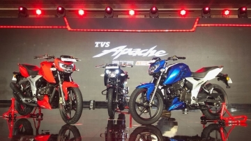 The new Apache 160 4V has been launched in three colours