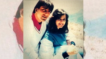 Sanjay Dutt with his first wife Richa Sharma.