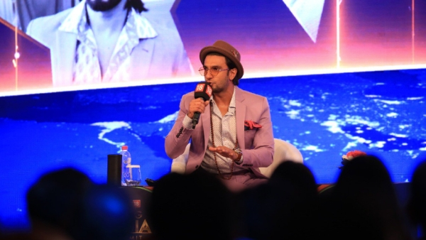 Ranveer Sing at the 'Rising India Summit'.