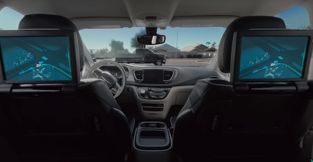 How self-driving cars look from the inside.