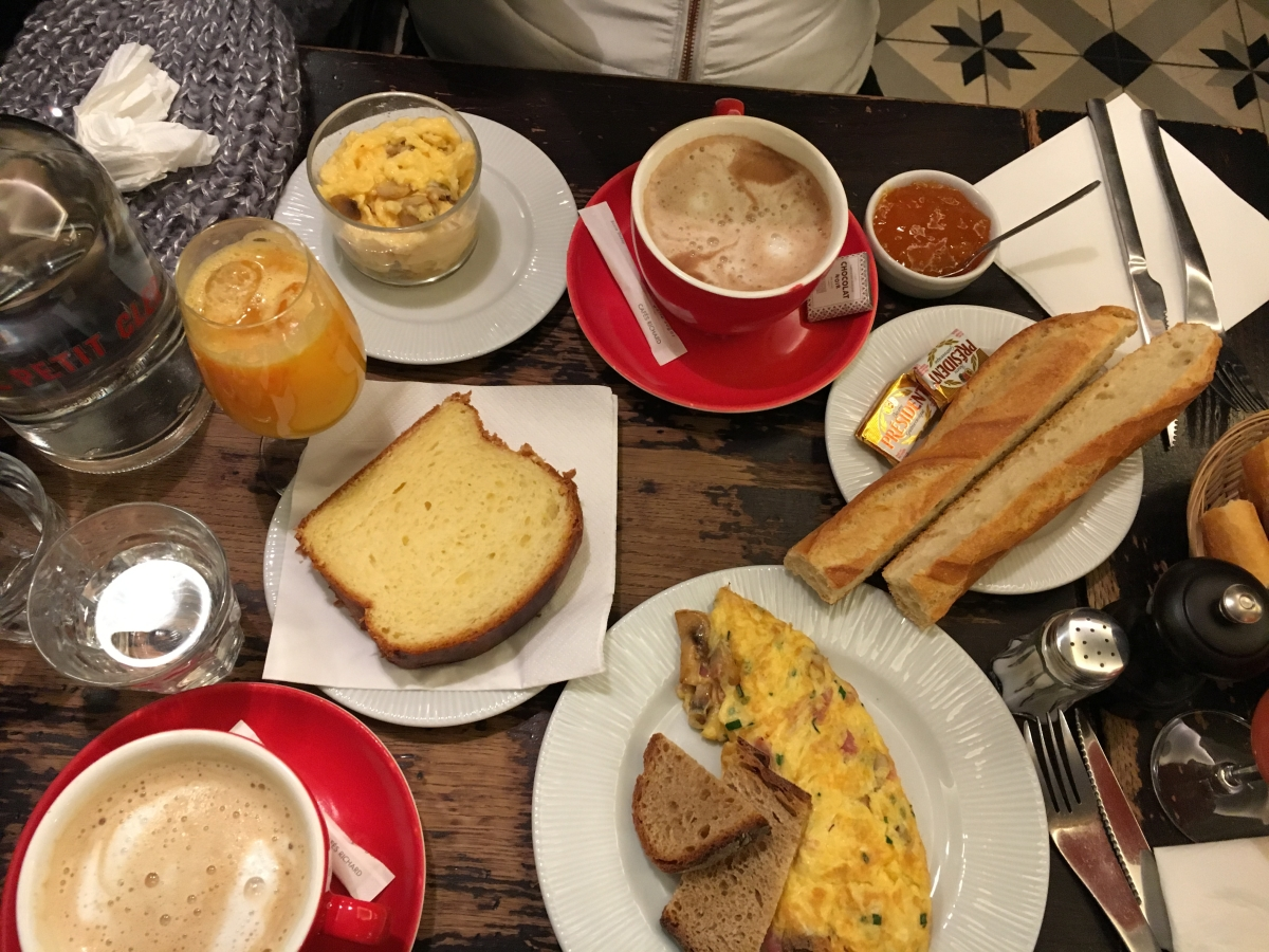 An everyday Parisian breakfast.