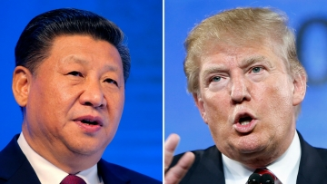 China's President Xi Jinping and US President Donald Trump.