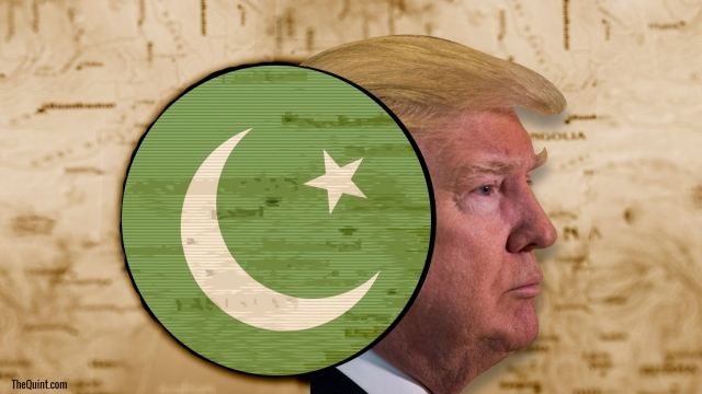 Image of Donald Trump and Pakistani flag used for representational purposes.