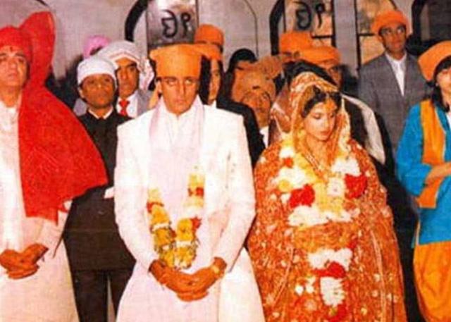 Sanjay at his wedding with Richa.