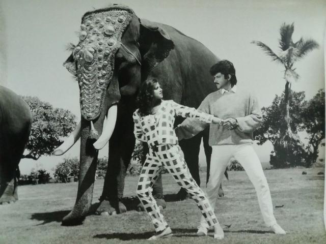 Richa Sharma with Anil Kapoor in <i>Insaaf Ki Awaaz</i>.