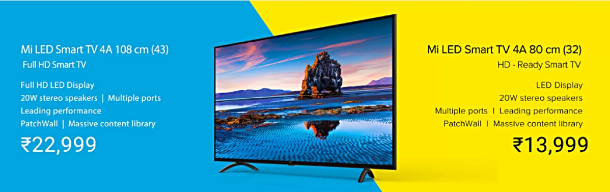 Mi TV 4 Sale Today:Xiaomi's HD and Full-HD Mi TV 4A Comes to