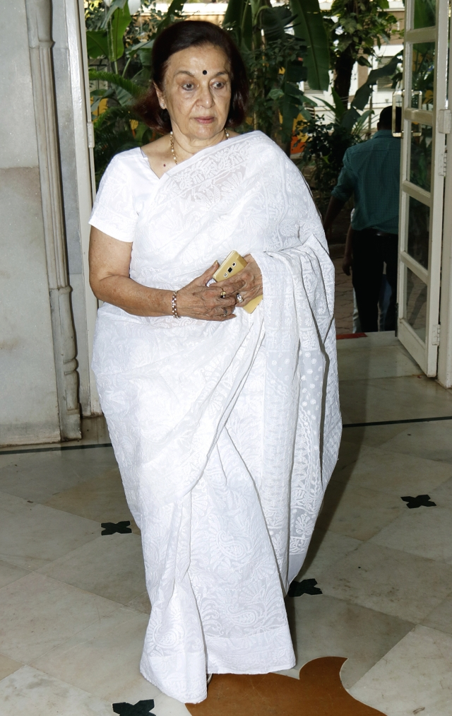 Yesteryear actor Asha Parekh at the venue.