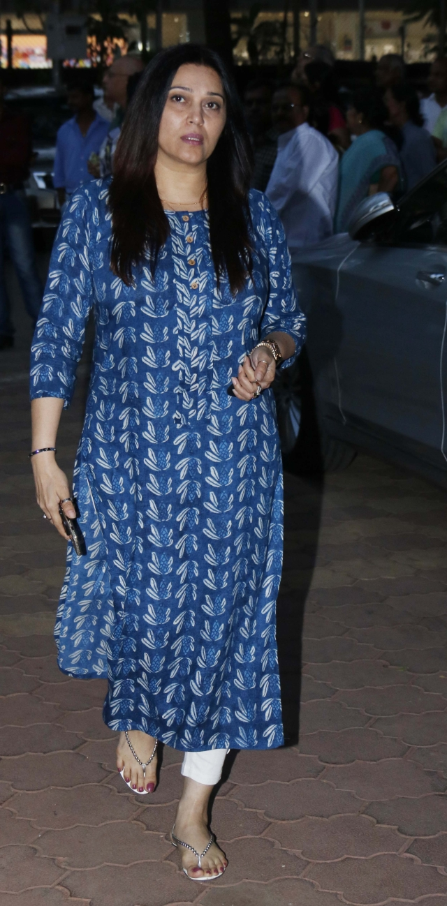 TV actor Nikki Aneja Walia attended the <i>chautha</i> ceremony.