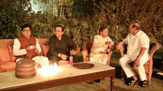 From left: SP's Ram Gopal Yadav, BSP leader Satish Mishra, JDU's Sharad Yadav, NCP leader Sharad Pawar.