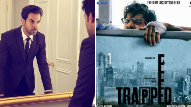 Actor Rajkummar Rao in the film <i>Trapped.</i>