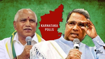 While BJP has been projecting BS Yeddyurappa as the CM candidate, incumbent Siddharamiah is the candidate for the top job from Congress.