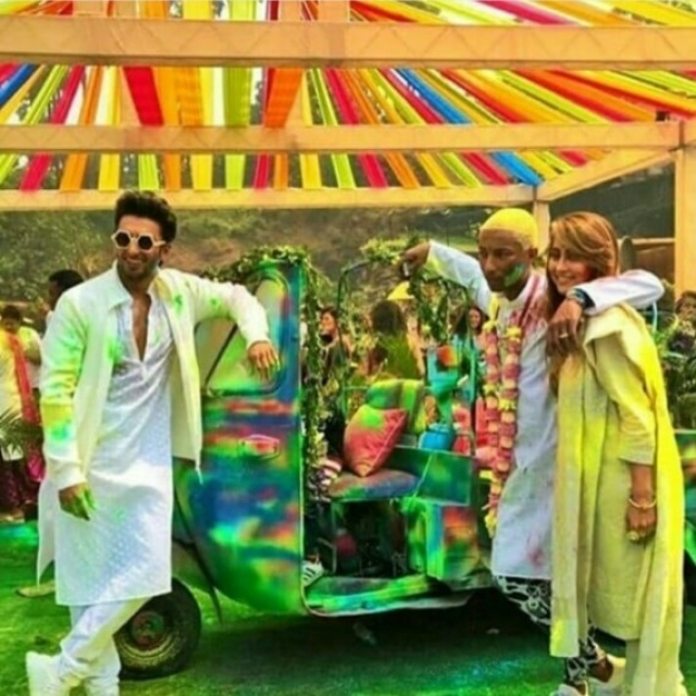 Ranveer Singh hosts a Holi bash for Pharrell Williams. Pic Courtesy: Instagram